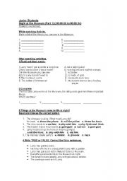 English Worksheet: Night at the Museum-Part 1