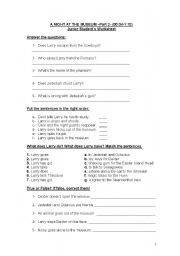 English Worksheet: Night at the Museum-Part 2