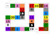 English Worksheets: Number - Colour game