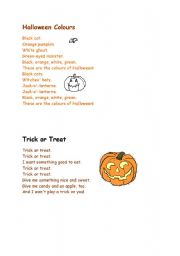 English Worksheet: hallowe�en short poems