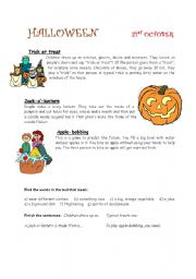 English Worksheets: Hallowe�en traditions