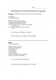 together with  together with  moreover Printable Figurative Language Worksheets Literal Vs Figurative besides Worksheet   Circle the Simile   Teaching Ideas Stuff   Simile additionally Literal Vs Figurative Language Worksheets as well  furthermore literal vs nonliteral language worksheets – lesrosesdor info also Figurative and Literal Language   ESL worksheet by 5312 in addition  as well Related Resources Abbreviations Worksheets 3 Identifying Figurative also  in addition Language Worksheet Printable Figurative Language Printable Worksheet furthermore Literal And Language Worksheets Figurative Sch Idiom Worksheet likewise Figurative And Literal Language Worksheet Lesson Pla  Free together with Fantastic Quiz   Worksheet Literal Language Worksheets Frieze And. on figurative vs literal language worksheets