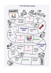 English Worksheet: Classroom Monopoly - set 1