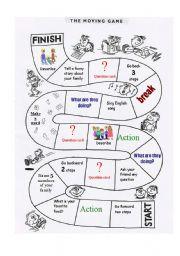 English Worksheet: Classroom Monopoly - set 1