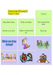 English Worksheet: Classroom Monopoly - set 2