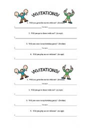 English Worksheet: How to accept or decline invitations