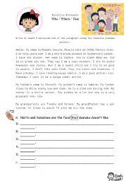 English Worksheets: Chibi Maruko