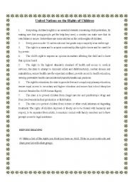 English Worksheets: Childrens` rights