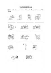 English Worksheets: WHAT I DO EVERY DAY