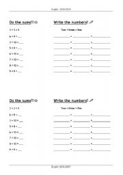English Worksheets: Do the sums!!