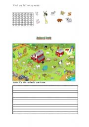 English Worksheets: Find the animals you know