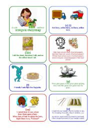English Worksheet: TONGUE TWISTERS part 2