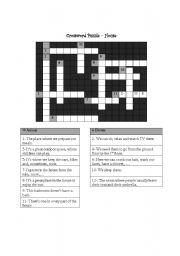 English Worksheet: House - crossword puzzle