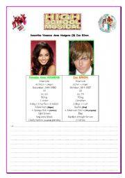 English Worksheets: High school musical