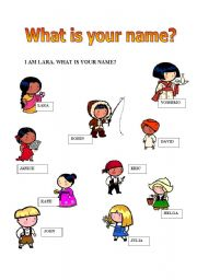 English Worksheet: What is your name?