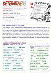 English Worksheet: Determiners