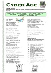 English Worksheets: Cyber Age