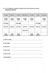 Frequency Adverbs  ( 4 different worksheets )
