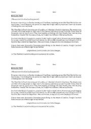 English Worksheets: TEXT  for Reading comprehension  skill TEST Past