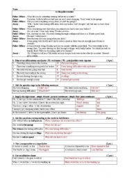English Worksheet: Key for teacher  tEST at the police station