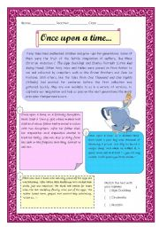 English Worksheet: Fairy tales - reading