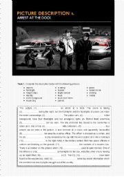 English Worksheet: Arrest at the dock. Picture description 1/5