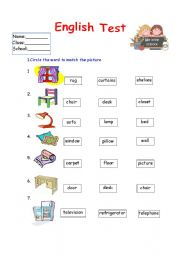 English Worksheet: English Test  /Grammar and Vocabulary/ 4 pages