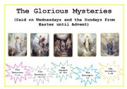 English Worksheets: The Rosary- Glorious Mysteries