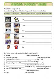 English Worksheet: Present perfect Tense