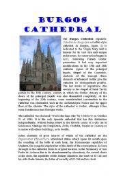 English Worksheets: Burgos Cathedral