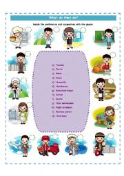 English Worksheets: Professions and Ocupations!