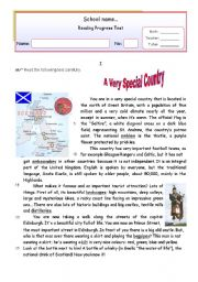 English Worksheet: A very special country (Scotland)