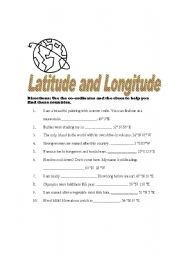 Latitude and Longitude of Cities | Worksheet | Education.com