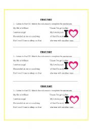 English Worksheet: listening song practice (3 exercises)