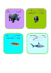 English Worksheets: Animals - insert the missing words