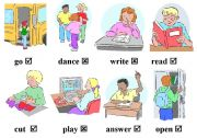 pictures for working with tenses