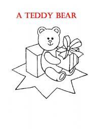 English Worksheets: A Teddy Bear