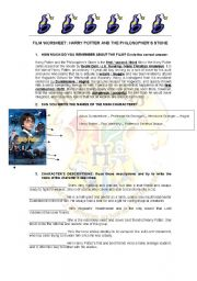 English Worksheets: Film Worsheet: Harry Potter and the Philosopher�s Stone