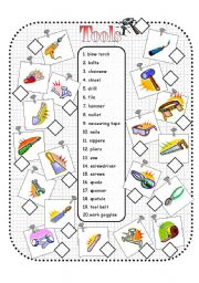 English Worksheet: Tools