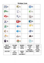 computer icons - ESL worksheet by greggy