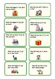 English Worksheet: 1st Conditional Conversation Questions