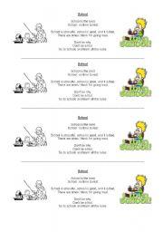 English Worksheet: school poem