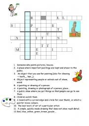 English Worksheet: Pablo Picasso, ART