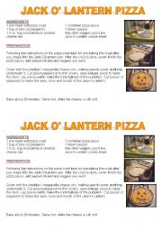 English Worksheet: Halloween pizza