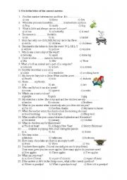 English Worksheet: test Paper - 3rd grade
