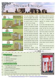 English Worksheet: Stonehenge