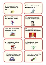 2nd Conditional Conversation cards