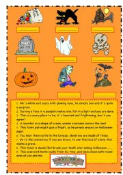Halloween vocabulary (riddles)