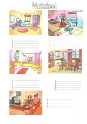 English Worksheets: Furniture - Worksheet
