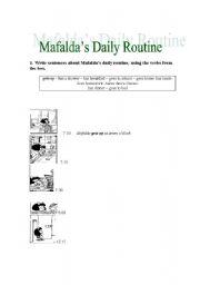 Mafalda´s Daily Routine